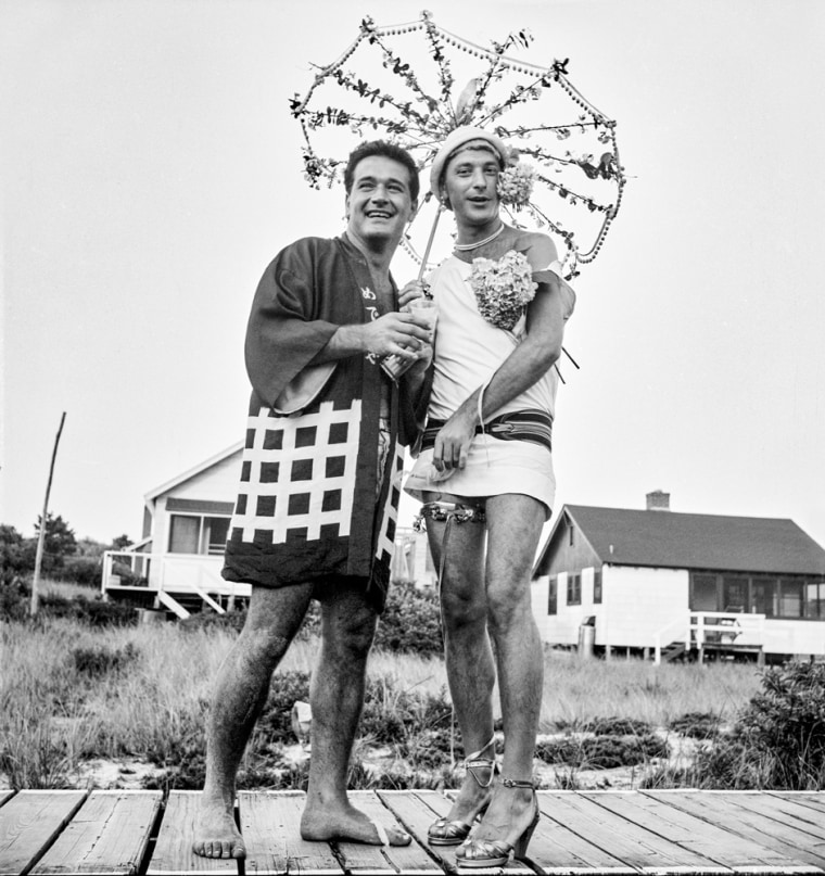 """Image:; A  photo from the """"Safe/Haven: Gay Life in 1950s Cherry Grove"""" exhibit opening Friday at the New-York Historical Society."""