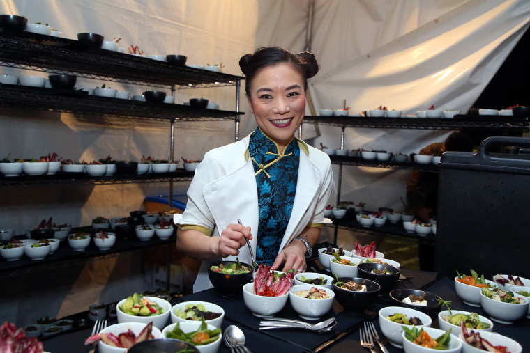 Image: ;Shirley Chung prepares a dish in Los Angeles, on Jan. 5, 2019.