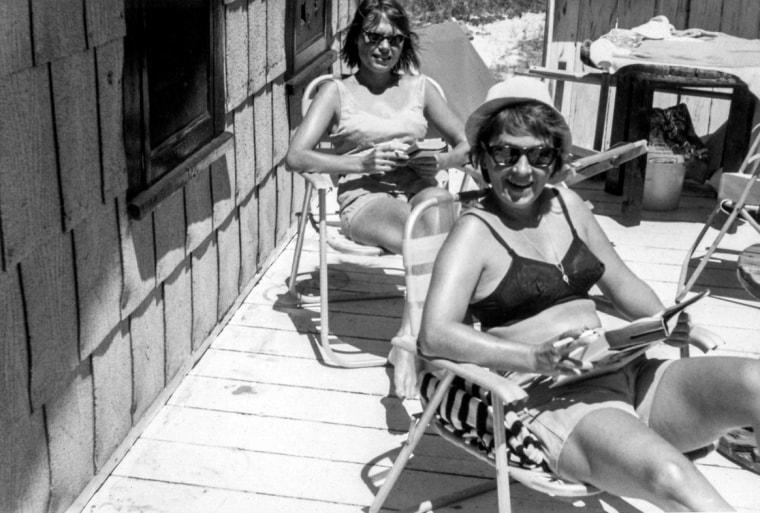 Maggie McCorkle and Audrey Hartmann in Cherry Grove, ca. 1963.