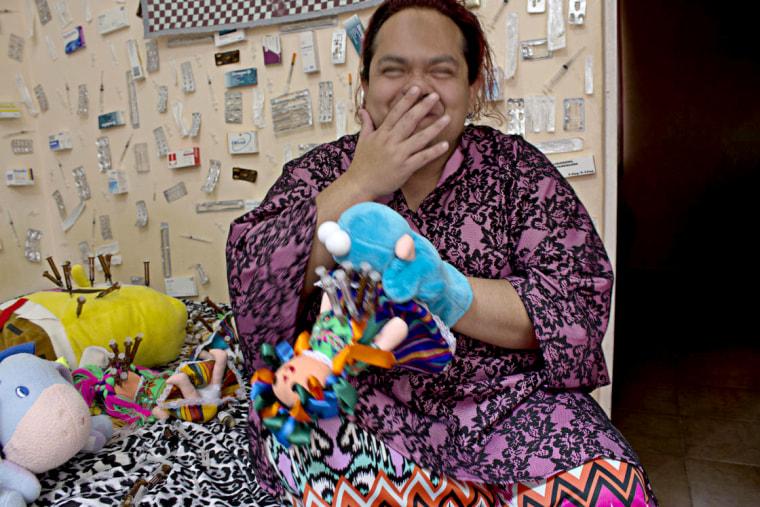 Plastic artist Pedro Miranda who is also an LGBTQ indigenous person.