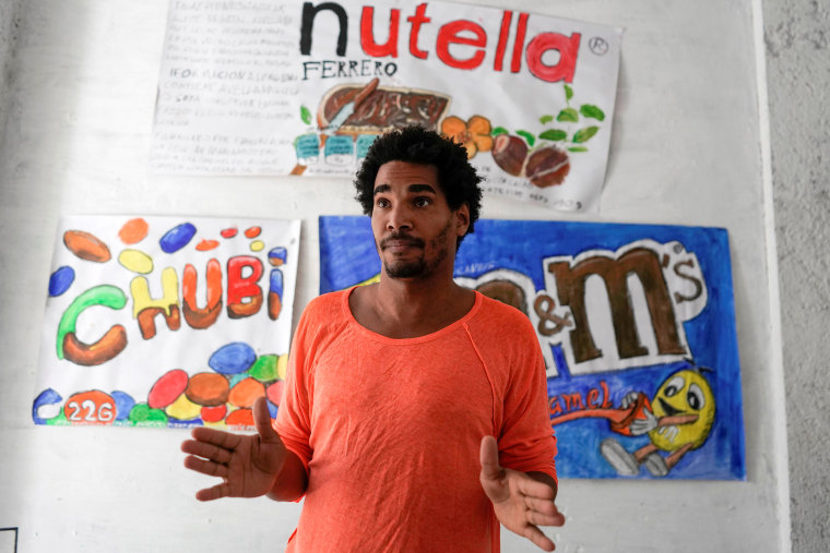 Image: Dissident artist Luis Manuel Otero Alcantara speaks during an interview at the headquarters of San Isidro Movement in Havana, on April 6, 2021.