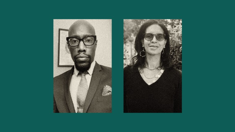 Image: Jaleel Brabham, a mental behavioral health therapist in the Philadelphia area, and Laura Morse, a psychotherapist in Atlanta.