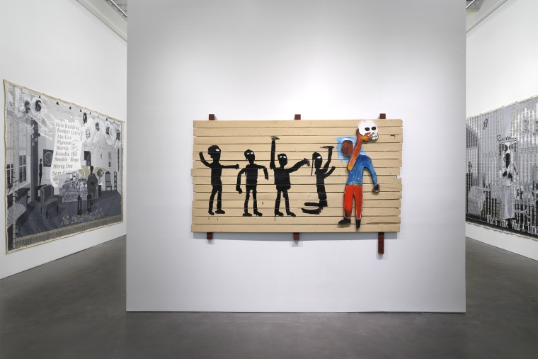 """""""Grief and Grievance: Art and Mourning in America,"""" 2021. Exhibition view: New Museum, New York."""