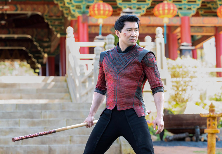 """Image: Simu Liu as Shang-Chi in """"Shang-Chi and the Legend of the Ten Rings."""""""
