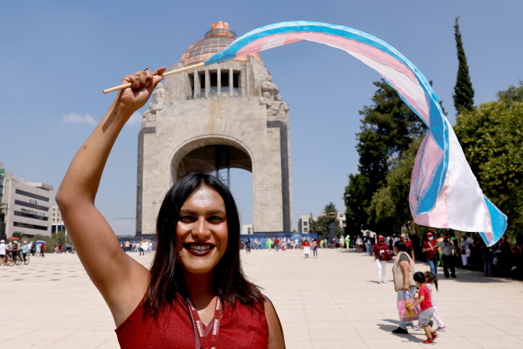 Image: Transgender candidate for deputy for the MORENA party Maria Clemente poses for a photograph during a political event, ahead of the mid-term elections on June 6, in Mexico City