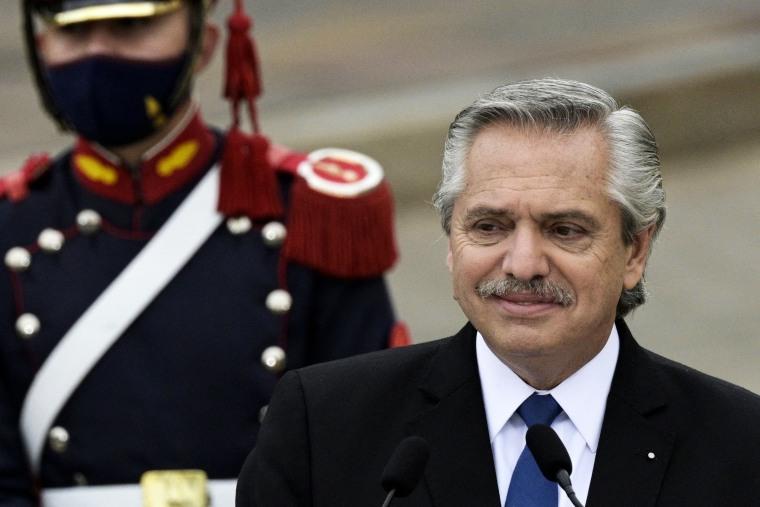 Image: Argentina's President Alberto Fernandez