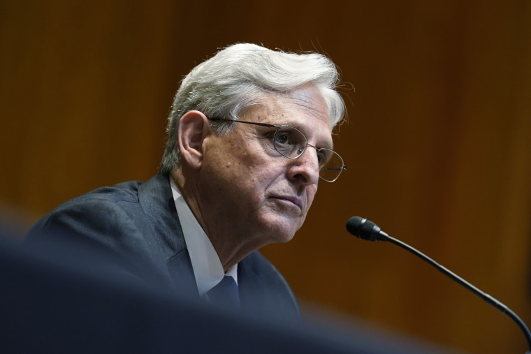 Attorney General Merrick Garland testifies during a Senate Appropriations Subcommittee hearing on June 9, 2021.