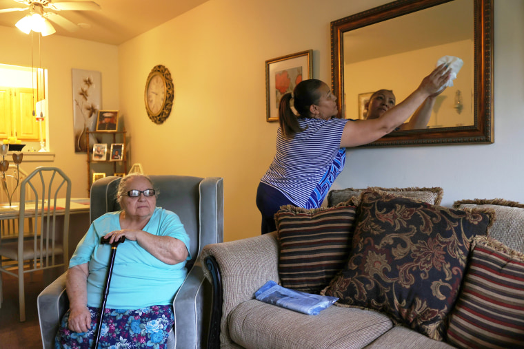 Home Health Aide Visits With A Patient In New York City