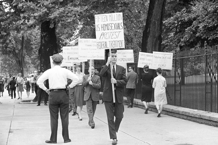 Demonstrators Protesting Treatment of Gay People in the Military