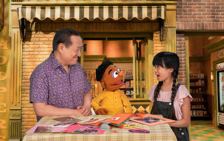 New videos with Sesame Street Muppet friends include Proud of Your Eyes, in which Wes and Alan help their friend Analyn, who is Filipino American, process big feelings after she was teased about her eyes.
