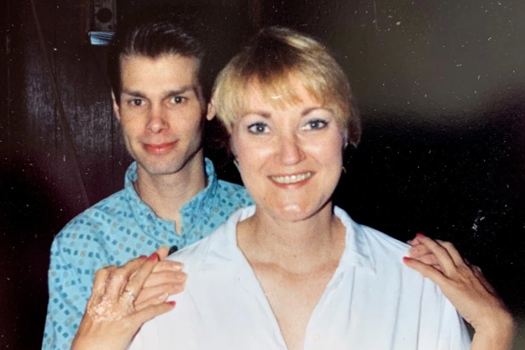 Image: Coker Burks with Billy, who became one of her best friends before he died of AIDS at 24.