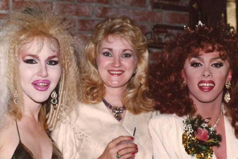 Image: Coker Burks and drag queens from the Discovery Nightclub in Little Rock, Arkansas.