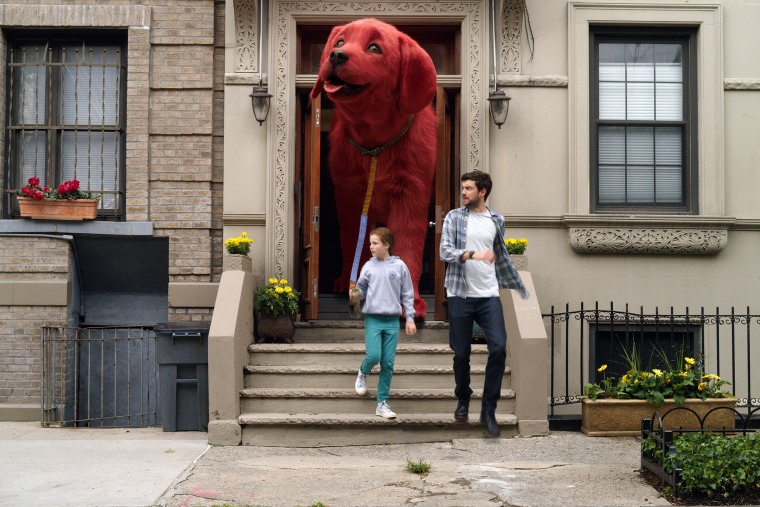 """Image: Darby Camp and Jack Whitehall in """"Clifford the Big Red Dog."""""""