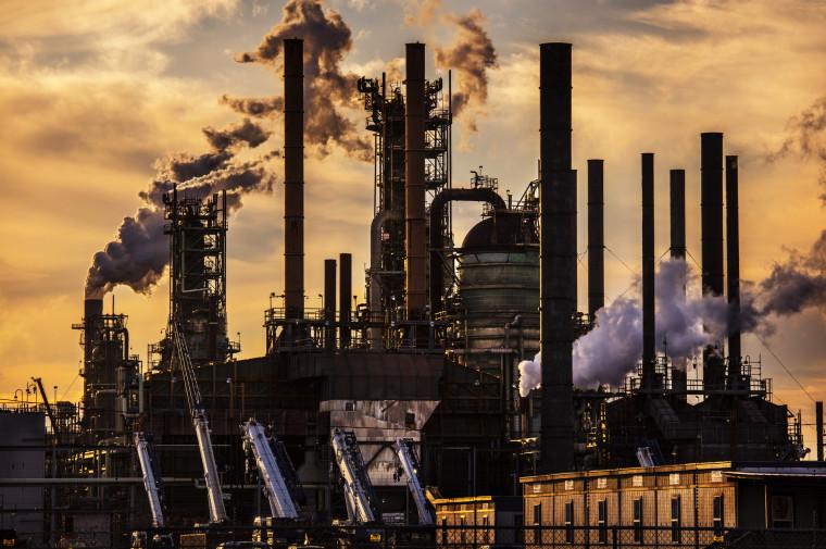An oil refinery owned by ExxonMobil in Baton Rouge, La., on Feb. 28, 2020.