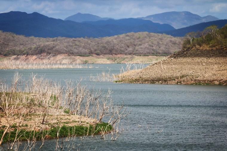 A view of the Aurelio Benassini dam in Elota