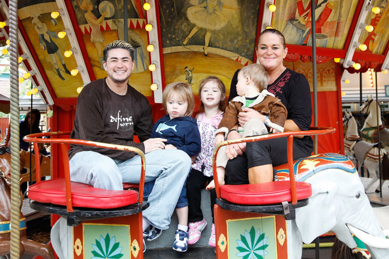 Thomas Beatie And Family Enjoy Day At Amusement Park