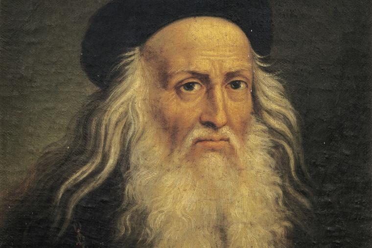 Portrait of Leonardo da Vinci, by Lattanzio Querena (1768-1853). (Photo by DeAgostini/Getty Images)
