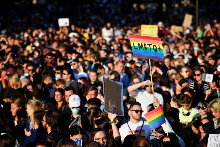 Image: FILE PHOTO: Protest against latest anti-LGBTQ law in Budapest