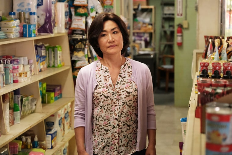 """Jean Yoon as """"Umma"""" in an episode of Kim's Convenience."""