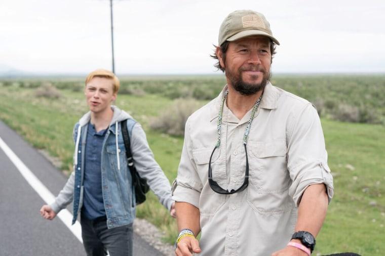 """Mark Wahlberg with Reid Miller in """"Joe Bell."""""""