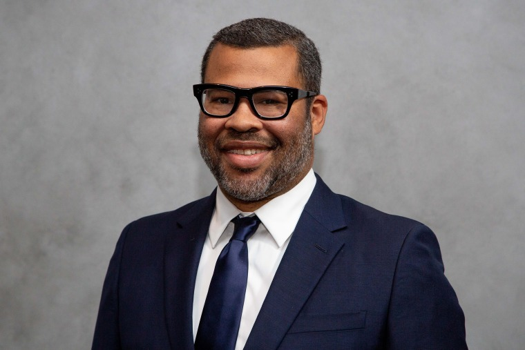 Image: Jordan Peele arrives for the Hammer Museum Gala In The Garden in Los Angeles on Oct. 12, 2019.