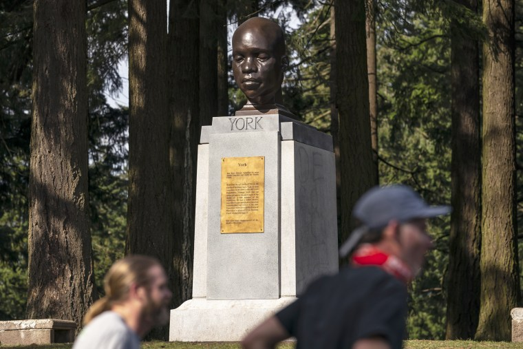 Statue Of Black Explorer Mysteriously Erected In Mt. Tabor Park