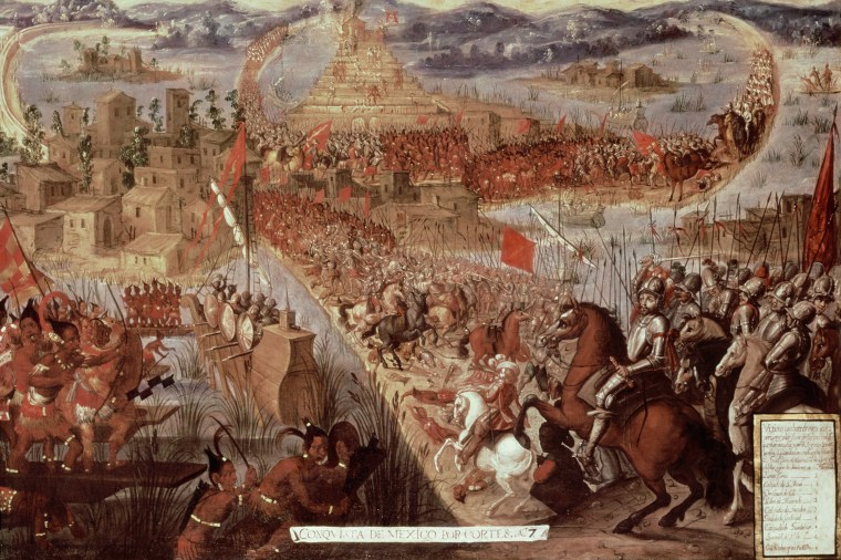 The Taking of Tenochtitlan by Cortes, 1521.