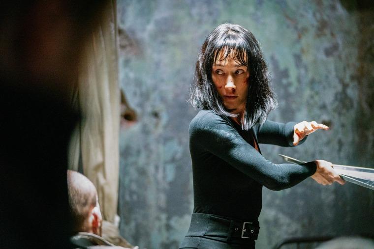 "Maggie Q stars as Anna in the new film, ""The Protégé."""