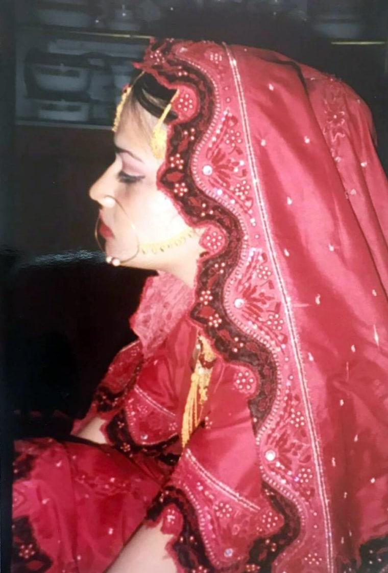 Naila Amin tenía 13 años el día de su boda en Pakistán.