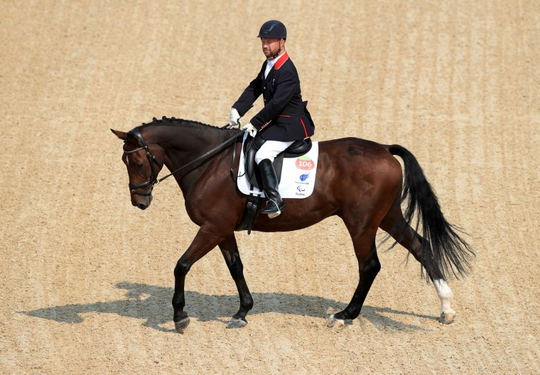 Great Britain's Sir David Lee Pearson  competes at the 2016 Rio Paralympic Games in Rio de Janeiro