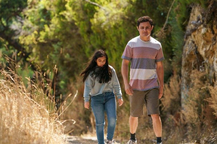 """Image: Miley Delgado and Arturo Castro in """"Mr. Corman."""""""