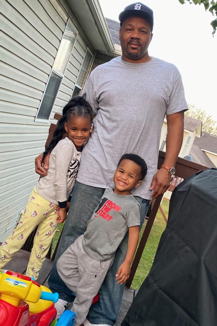 Brian Foster with his grandchildren.