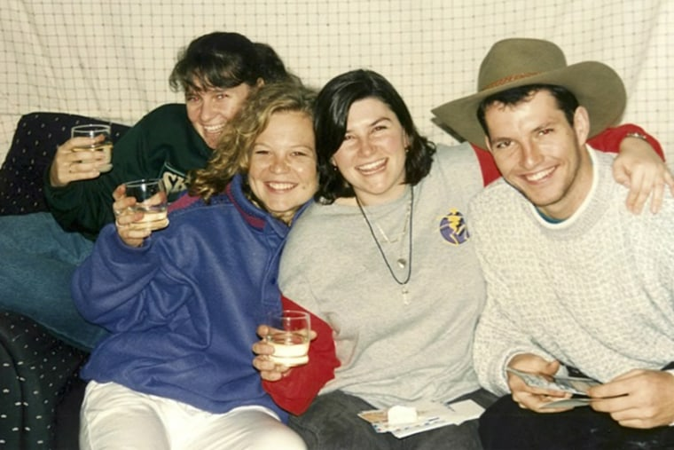 Mark Bingham, right, with friends.
