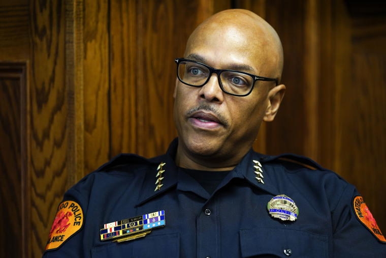 Waterloo Police Chief Joel Fitzgerald, the first Black police chief in Waterloo, Iowa, is facing intense opposition from some current and former officers as he works with city leaders to reform the department, including the removal of its longtime insignia that resembles a Ku Klux Klan dragon.