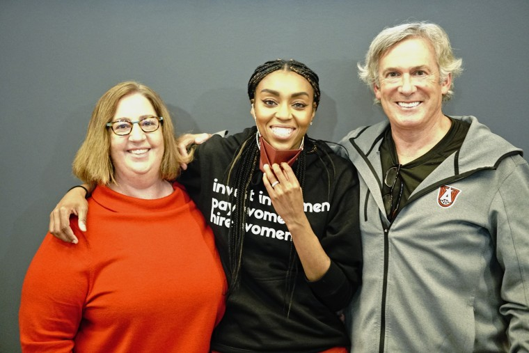 Renee Montgomery with Suzanne Abair and Larry Gottesdiener.