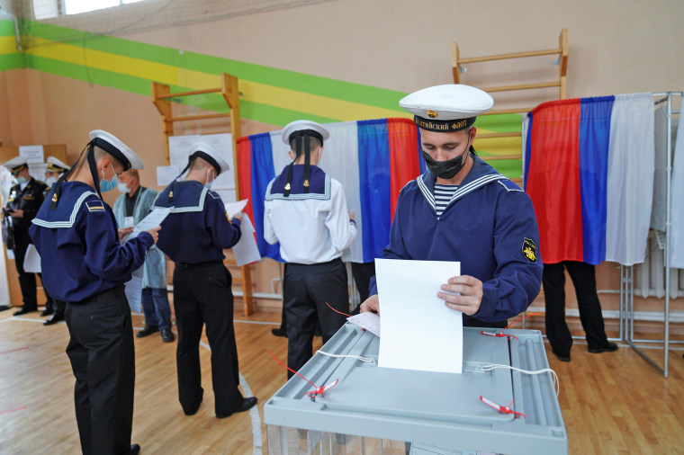 Image: Russian parliamentary election in Baltiysk