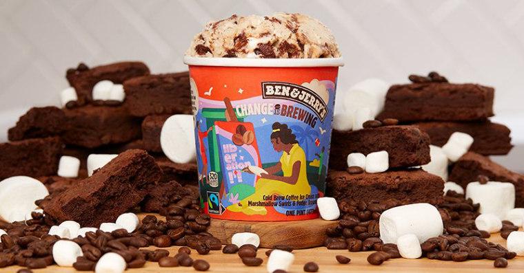 """Ben & Jerry's new flavor, """"Change is Brewing."""""""