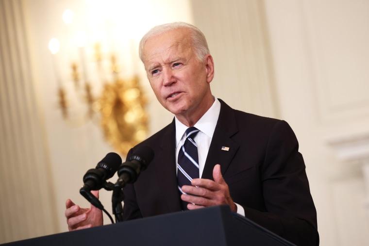 President Joe Biden speaks at the White House on Sept. 9, 2021.