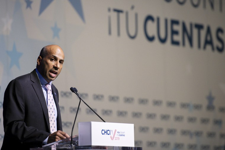 Marco A. Davis, Congressional Hispanic Caucus Institute president and CEO, speaking at the CHCI Presidential Forum in Washington, on Sept. 10, 2019.