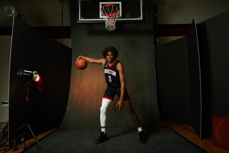 Jalen Green of the Houston Rockets in Las Vegas on Aug. 14, 2021.