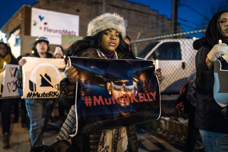 Demonstrators Gather In Chicago In Support Of R. Kelly's Victims