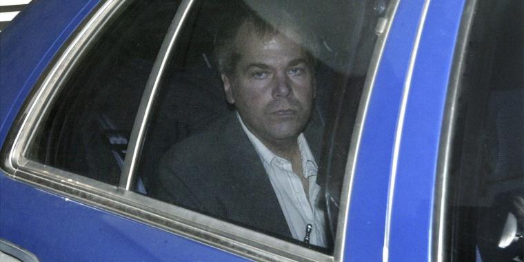 John Hinckley Jr. arrives at U.S. District Court in Washington in this photo taken Nov. 18, 2003.