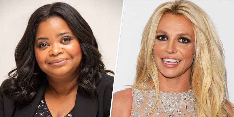 """Octavia Spencer, left, apologized to Spears for her prenup joke. """"My intention was to make them laugh not cause pain,"""" she wrote on Instagram."""