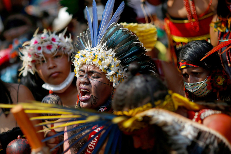 FILE PHOTO: Second march of indigenous women to protest against Brazil's President Bolsonaro in Brasilia