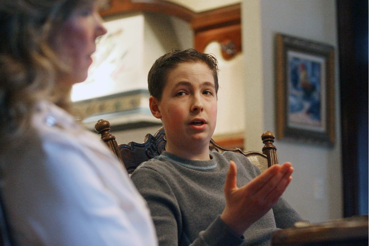 """Trevor Schaefer, who inspired """"Trevor's Law,"""" with his mother, Charlie Smith, in 2010."""