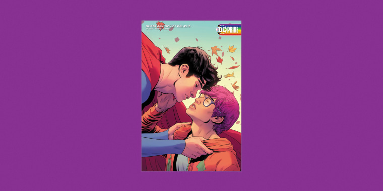 """Jon Kent will fall for reporter Jay Nakamua in the fifth issue of """"Superman: Son of Kal-El."""" Art by Travis Moore and Tamra Bonvillain."""