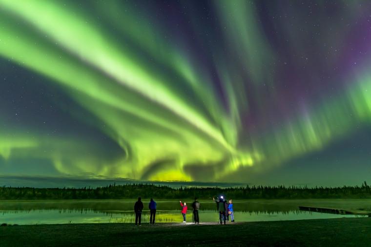 Aurora Tourists at Prosperous Lake (Sept 5-6, 2019)