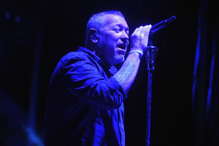 Image: Steve Harwell of Smash Mouth performs on Sept. 12, 2015 in Brooklyn, N.Y.