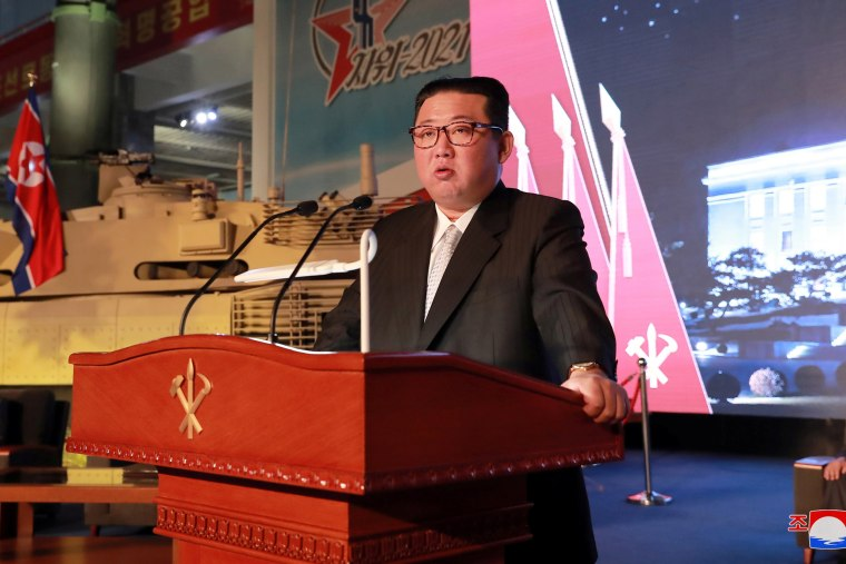 Image: Defence Development Exhibition, in Pyongyang
