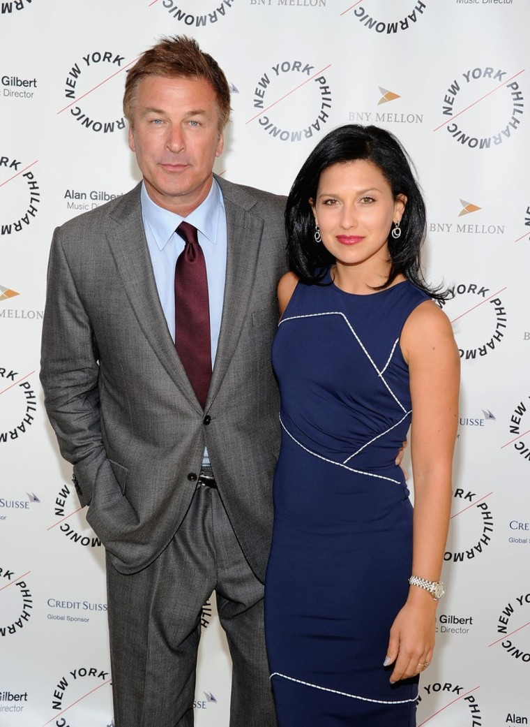 Alec Baldwin and Hilaria Thomas in New York on March 26.